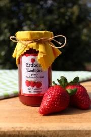 Erdbeer Konfitüre Pur, 245 Gramm